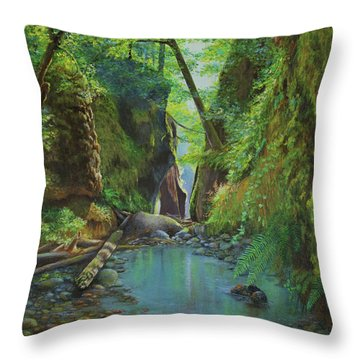 Oneonta Gorge Throw Pillow