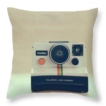 Throw Pillow featuring the photograph Onestep Polaroid by Ana V Ramirez