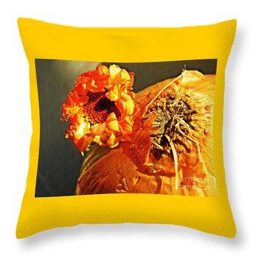 Onion And His Daisy Throw Pillow by Sarah Loft