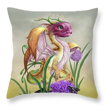 Onion Dragon Throw Pillow by Stanley Morrison