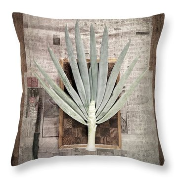 Throw Pillow featuring the photograph Onion by Linda Lees