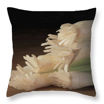 Onions 01 Throw Pillow by Wally Hampton