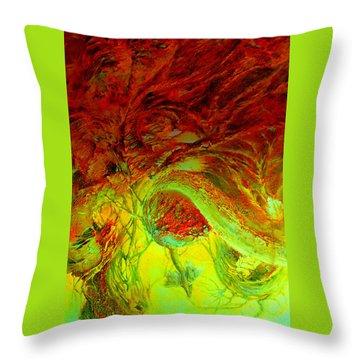Oniristic Space Throw Pillow by Henryk Gorecki