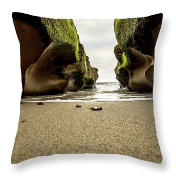 Only At Low Tide Throw Pillow by Ryan Weddle