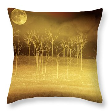 Only At Night Throw Pillow