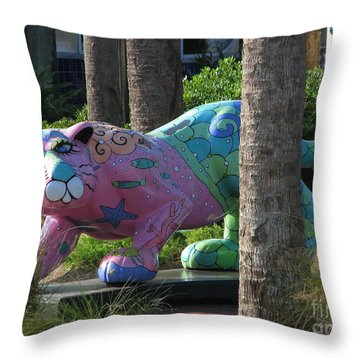 Throw Pillow featuring the photograph Only At The Beach by Greg Patzer