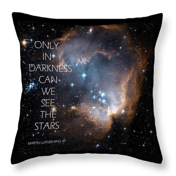 Throw Pillow featuring the digital art Only In Darkness by Lora Serra