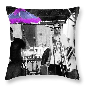 Only In Nola Throw Pillow by Steve Archbold