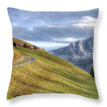 Only In The Swiss Alps Throw Pillow
