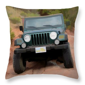 Only Jeeps Here Throw Pillow