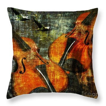 Only Music Heals A Broken Heart Throw Pillow