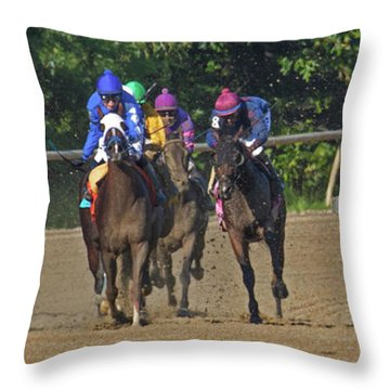 Only One Winner Throw Pillow