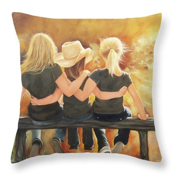 Only Sisters Know Throw Pillow