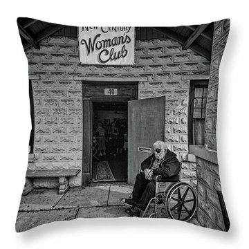 Throw Pillow featuring the photograph Only The Lonely by Lewis Mann