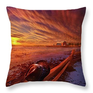Throw Pillow featuring the photograph Only This Moment In Between Before And After by Phil Koch
