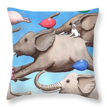 Only Way To Fly Throw Pillow