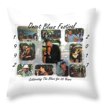 Onset Celebrates 25 Years Of Blues Throw Pillow