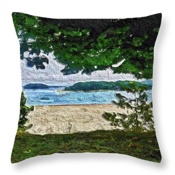 Throw Pillow featuring the painting Onset, Ma by Joan Reese