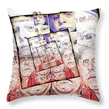 Onset Of Enlightenment Throw Pillow by Tobeimean Peter