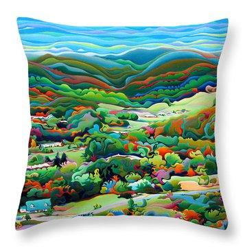 Onset Of The Appalachian Wonderfall Throw Pillow