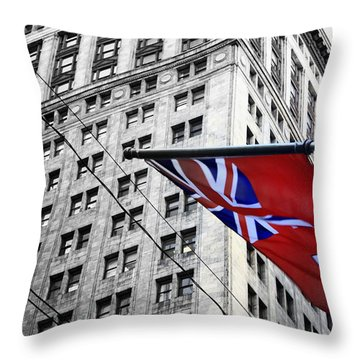 Ontario Flag Throw Pillow by Valentino Visentini