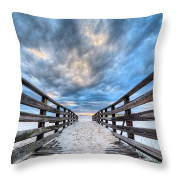 Throw Pillow featuring the photograph Onto The Beaches Of Gulf Shores by JC Findley