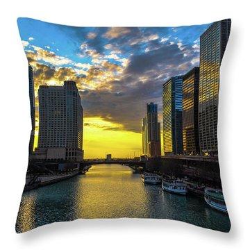 Onto The Lake Throw Pillow