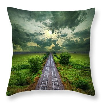 Onward Throw Pillow by Phil Koch