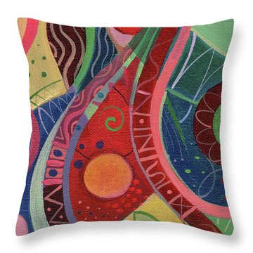 Onward Upward Throw Pillow