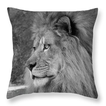 Onyo #20  Black And White Throw Pillow