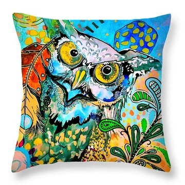 Oogke Owl Throw Pillow