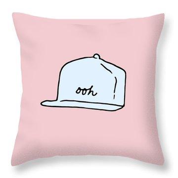 Ooh Hat Throw Pillow