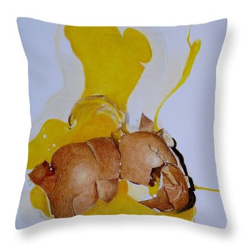 Oops Broken Egg Throw Pillow