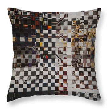 Throw Pillow featuring the mixed media Op Art 101 by Jan Bickerton