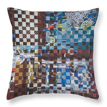 Throw Pillow featuring the mixed media Op Art 102 by Jan Bickerton