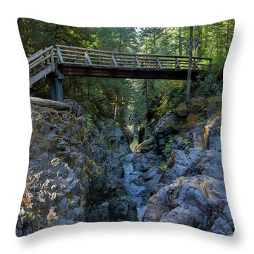 Opal Creek Bridge Throw Pillow