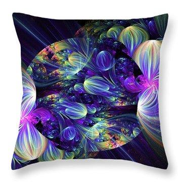 Throw Pillow featuring the digital art Opal Essence by Lea Wiggins