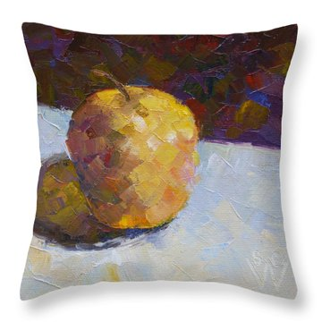 Opal In Gold Throw Pillow by Susan Woodward