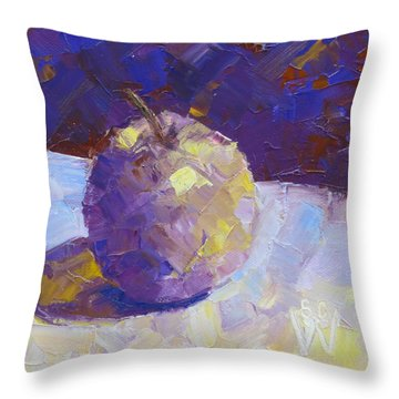 Opal In Lavender Throw Pillow by Susan Woodward