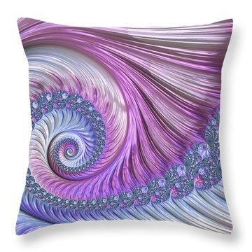 Throw Pillow featuring the digital art Opal Nautilus by Susan Maxwell Schmidt