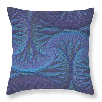 Throw Pillow featuring the digital art Opalescence by Lyle Hatch