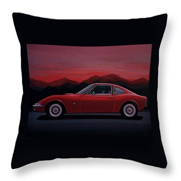 Opel Gt 1969 Painting Throw Pillow