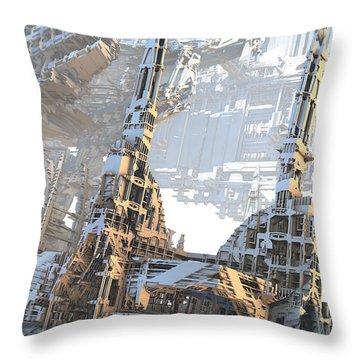Open Air Construction Throw Pillow