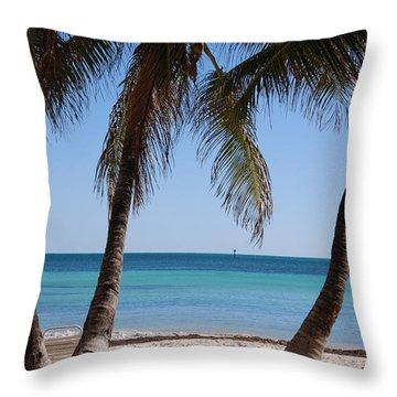 Open Beach View Throw Pillow by Susanne Van Hulst