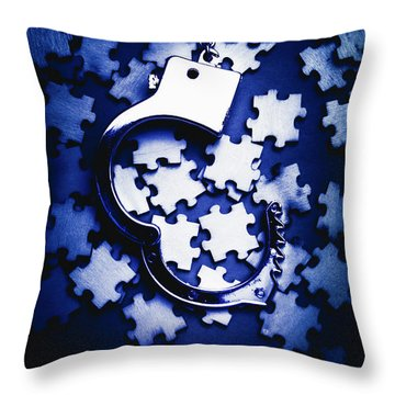Open Case Mystery Throw Pillow