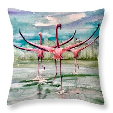 Open Horizon Throw Pillow