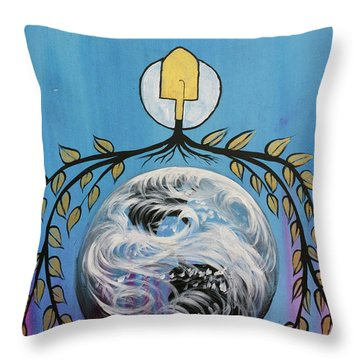 Throw Pillow featuring the painting Open Invitation by Nathan Rhoads