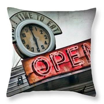 Open Throw Pillow by June Marie Sobrito