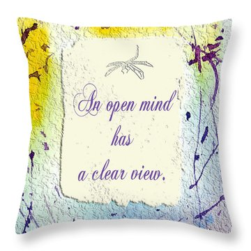 Throw Pillow featuring the painting Open Mind by Belinda Landtroop
