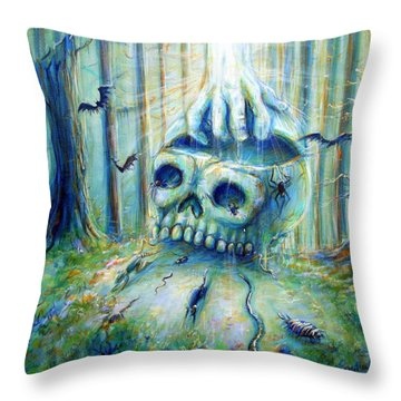 Throw Pillow featuring the painting Open Mind by Heather Calderon